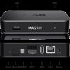 MAG349 premium IPTV/OTT FHD Box / Dualband WiFi module / Bluetooth 4.0 / USB 2.0 х2 Ports / Linux 3.3 / H.265 (HEVC) compatible