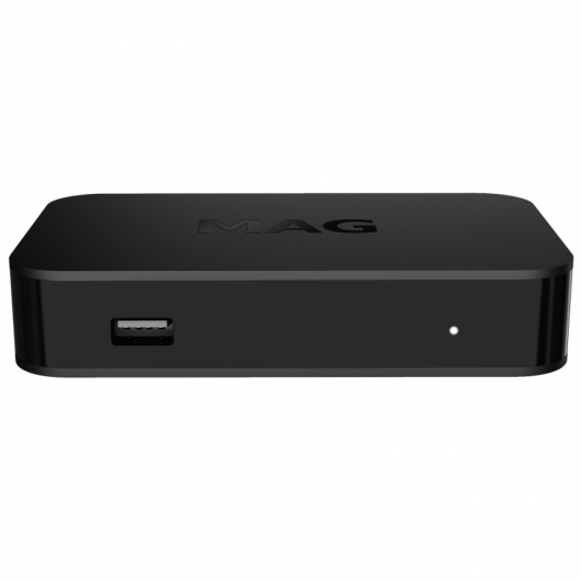 MAG420w1 Premium IPTV+OTT Set-Top Box / 4K and HEVC Support / Linux 4.4 OS / 512 MB RAM / Built-in Wi-Fi / CPU 1200 MHz / Ministra TV platform