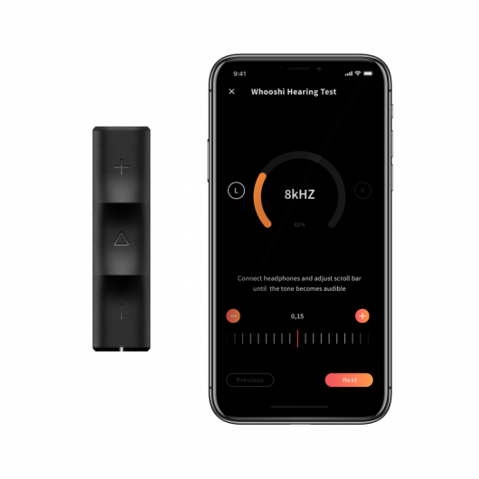 Kopfhörer-Verstärker Whooshi - Klang-Personalisierung / HI-FI Audioqualität / Klarer Sound / Bluetooth 5.0 / USB-C / Akkulaufzeit für über 8 Stunden Wiedergabe