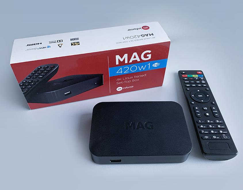 Critique du décodeur MAG420/MAG420w1 : un décodeur haute performance avec support 4K